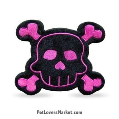 Dog Squeaky Toy: SKull & Bone PrideBites dog toy.