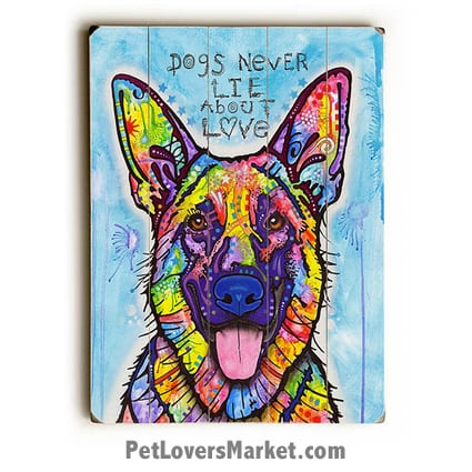 Dogs Never Lie About Love Dean Russo Art
