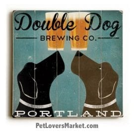 Double Dog Brewing: Vintage Beer Ads with Vintage Dogs