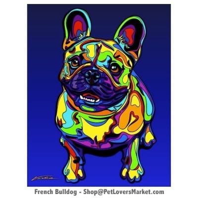 French Bulldog - Dog Picture, Dog Print, Dog Art. Wall Art and Wooden Signs with Dog Pictures and Dog Quotes. Features the French Bulldog dog breed.