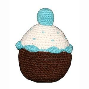 Blueberry Cupcake: Crochet Dog Toys, Organic, Dog Teeth Cleaning