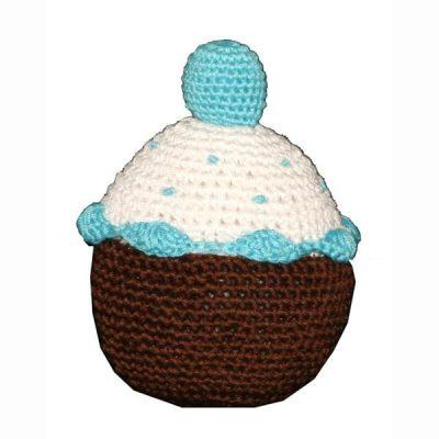 Blueberry Cupcake: Organic Crochet Dog Toys