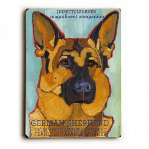 Dog Painting: German Shepherd Pictures. Wooden Sign. Dog Art. Dog Print. Dog Sign. German Shepherds.