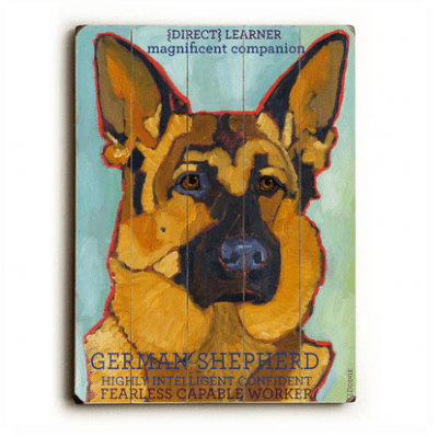 German Shepherd - Dog signs with Dog Breeds. Gifts for Dog Lovers. Wooden sign.