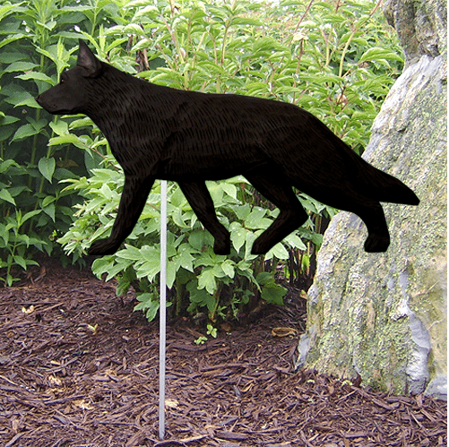 German Shepherd Statue (Black). Dog Statues And Garden Statues
