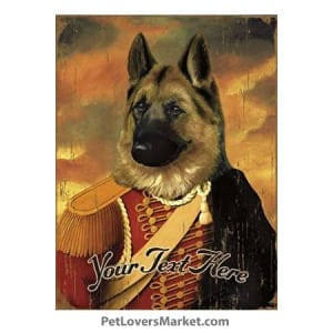 German Shepherd Art: Personalized Dog Gifts & Gifts for Dog Lovers