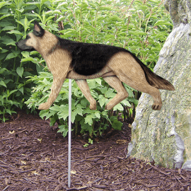 German Shepherd Statue (Tan/Black). Dog Statues and Garden Statues.