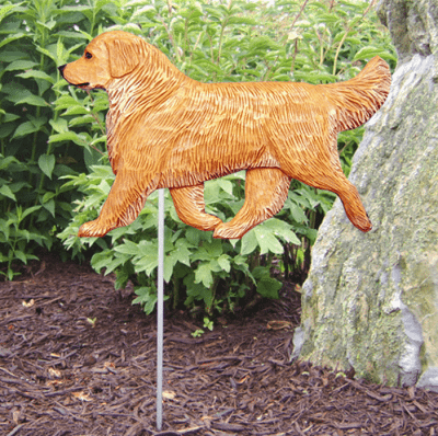 Golden Retriever Dog Sign / Garden Stake / Yard Sign (Light Coat) for Outdoor or Garden Decor.