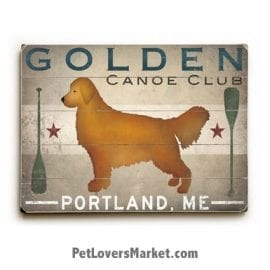 Golden Canoe Company: Vintage Ads with Vintage Dogs.