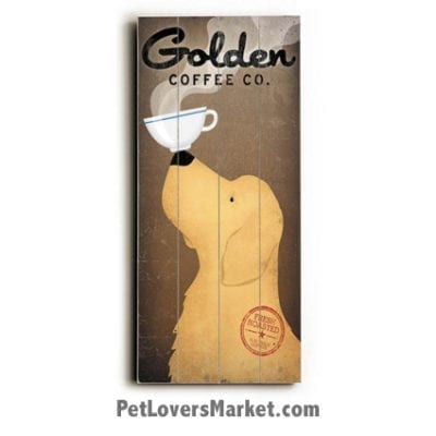 Vintage Ads: Vintage Golden Retrievers / Vintage Coffee Ads.
