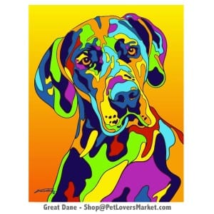 Great Dane Pictures & Great Dane Art. Great Dane Painting by Michael Vistia.