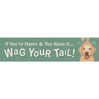 """""""If You're Happy and You Know it, Wag Your Tail."""" Funny Dog Signs with Funny Dog Quotes. Gifts for Dog Lovers. Wooden Dog Sign."""
