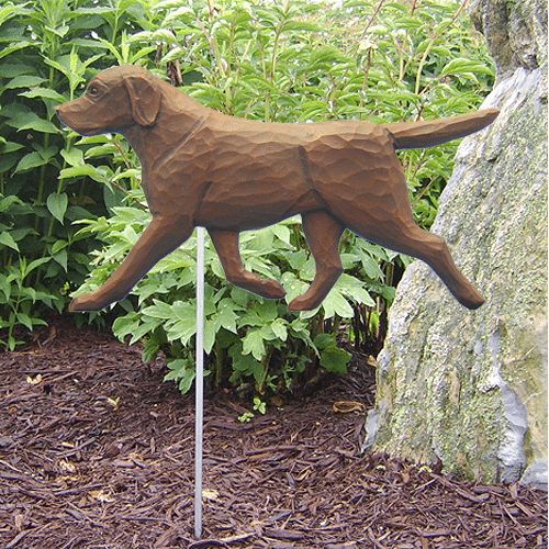 Labrador Statue / Chocolate Lab Statue. Dog Statues and Garden Statues