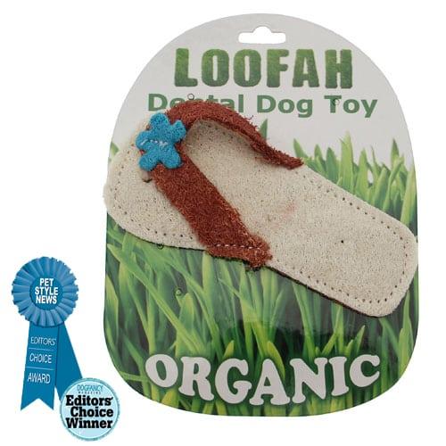 Loofah Organic All Natural Dental Dog Toy - Loofah Beach Sandal