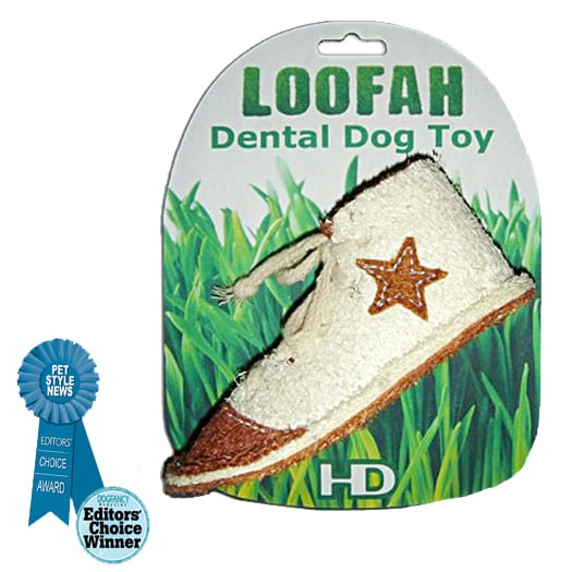 Loofah Organic All Natural Dental Dog Toy - Loofah Sneaker - Cool Dog Toys