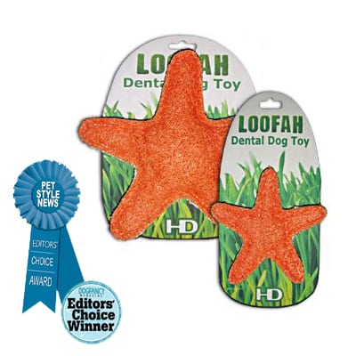 Organic All Natural Loofah Dental Dog Toy - Starfish (large and small)