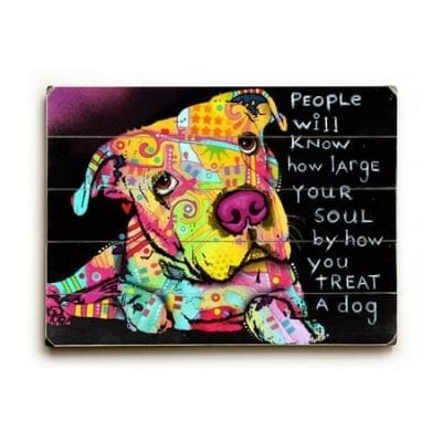 Dog Art with Dog Quotes (People)