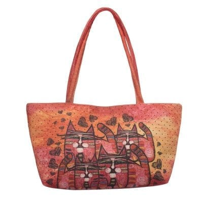 Totes by Albena - Love is Everywhere Square Bag (Gifts for Cat Lovers)
