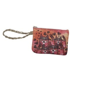 Totes by Albena - Love is Everywhere Wristlet Purse (Gifts for Cat Lovers)