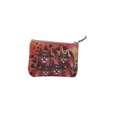Totes by Albena: Love is Everywhere (Cosmetic Bag / Coin Purse) Gifts for Cat Lovers