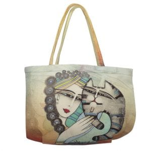 Tenderness Cat Tote by Albena (Gifts for Cat Lovers)