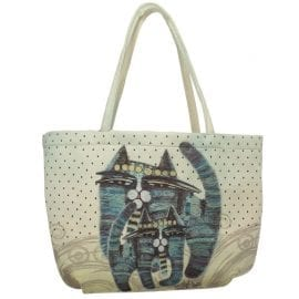 Together Forever Cat Tote by Albena (Bubble Bag) - Totes & Gifts for Cat Lovers