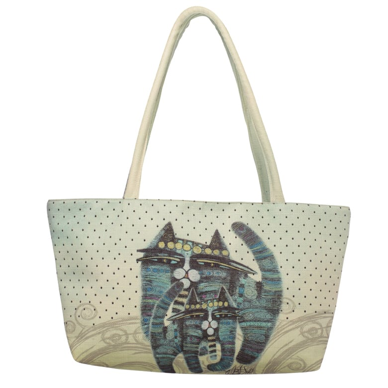 Together Forever Cat Tote by Albena (Square Bag) - Totes & Gifts for Cat Lovers
