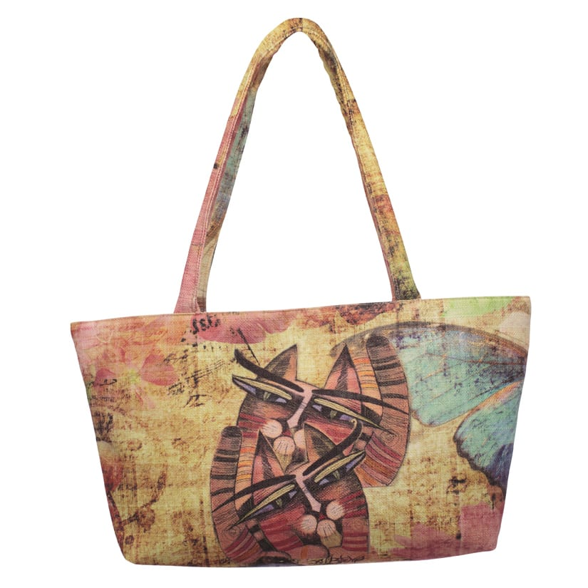Totes by Albena - Unique Tote for Cat Lovers (Square)