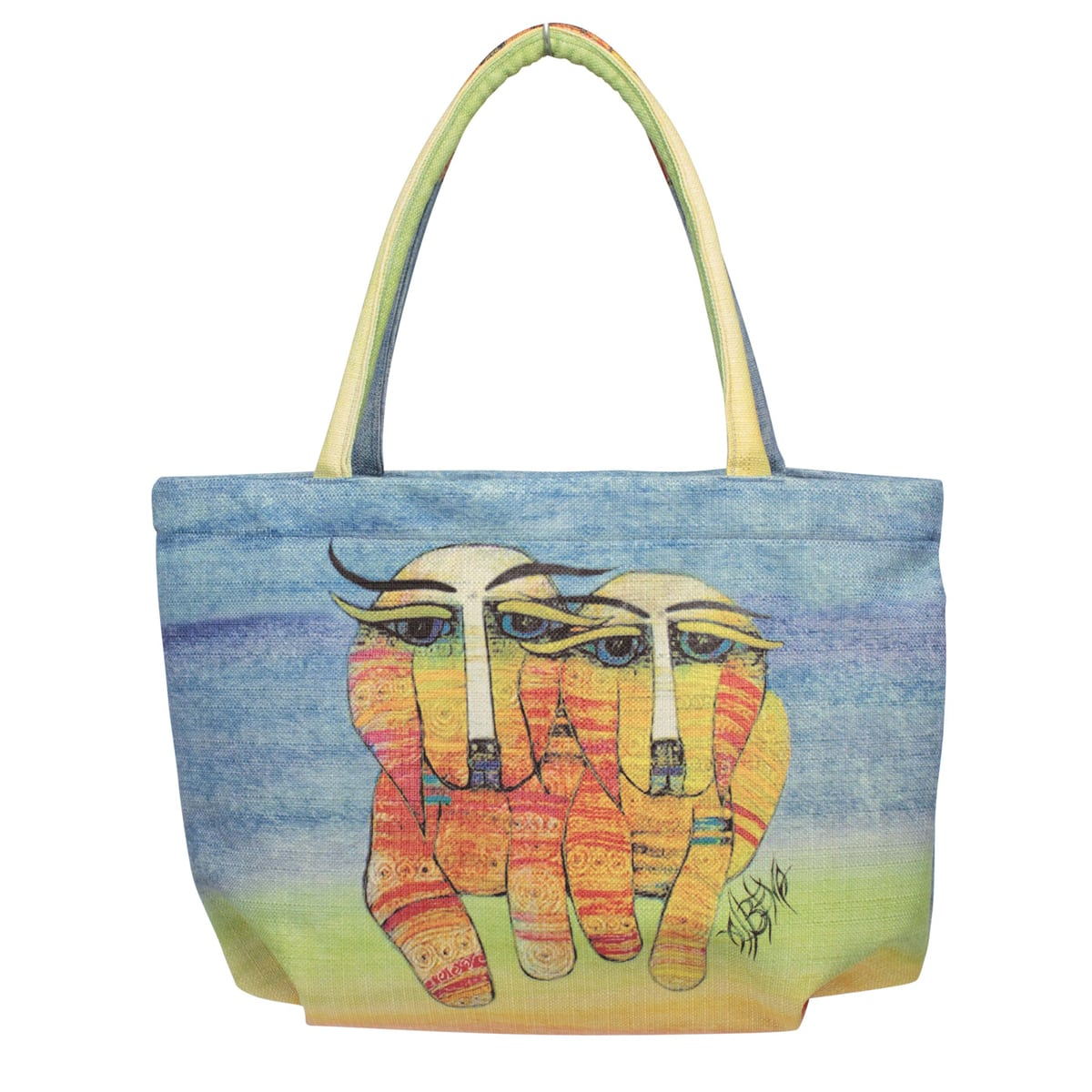 Dog Totes for Dog Lovers - Bubble Handbag with Dog Art by Albena