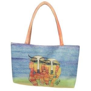 Dog Totes for Dog Lovers - Square Handbag with Dog Art by Albena