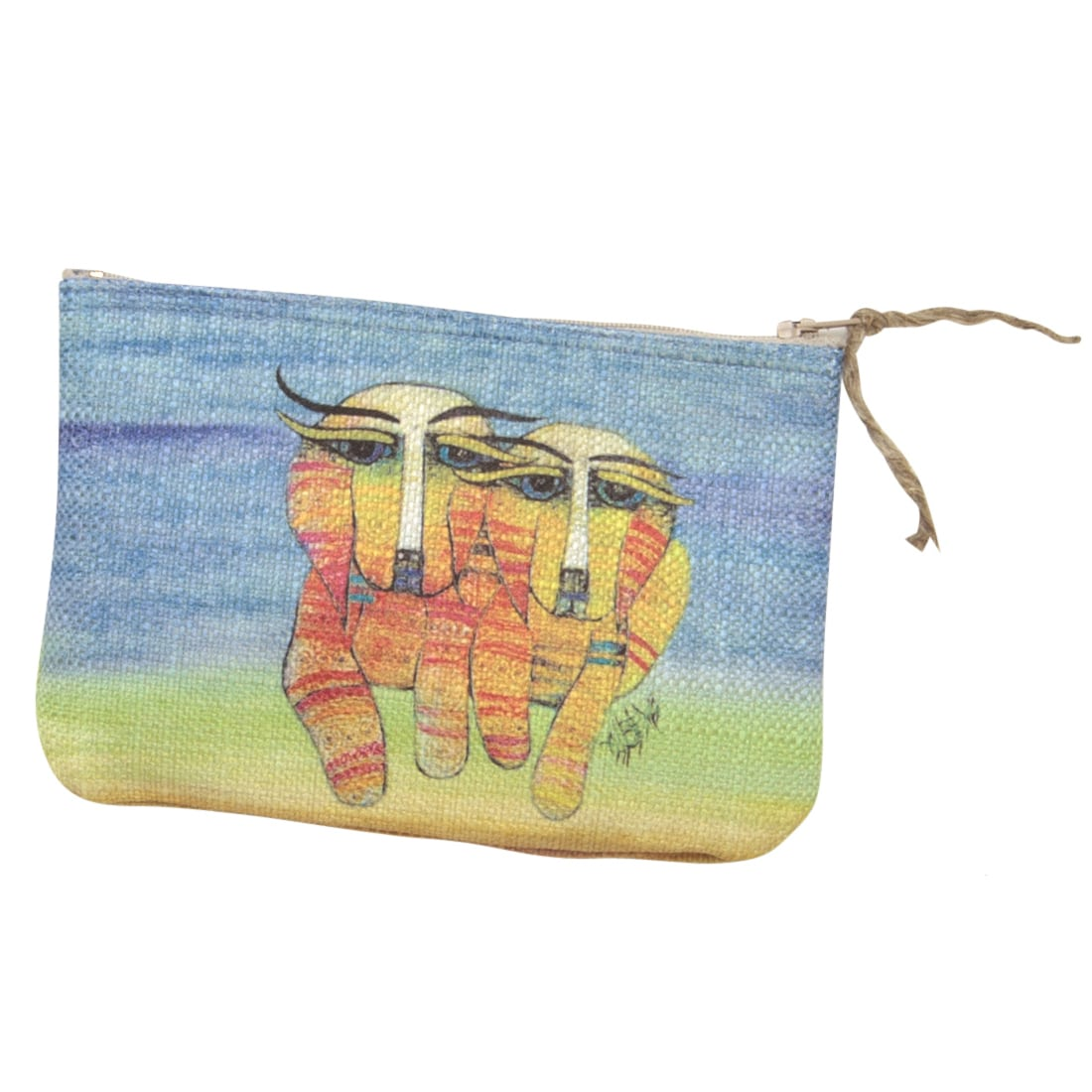 Dog Totes for Dog Lovers - Purse / Cosmetic Bag with Dog Art by Albena