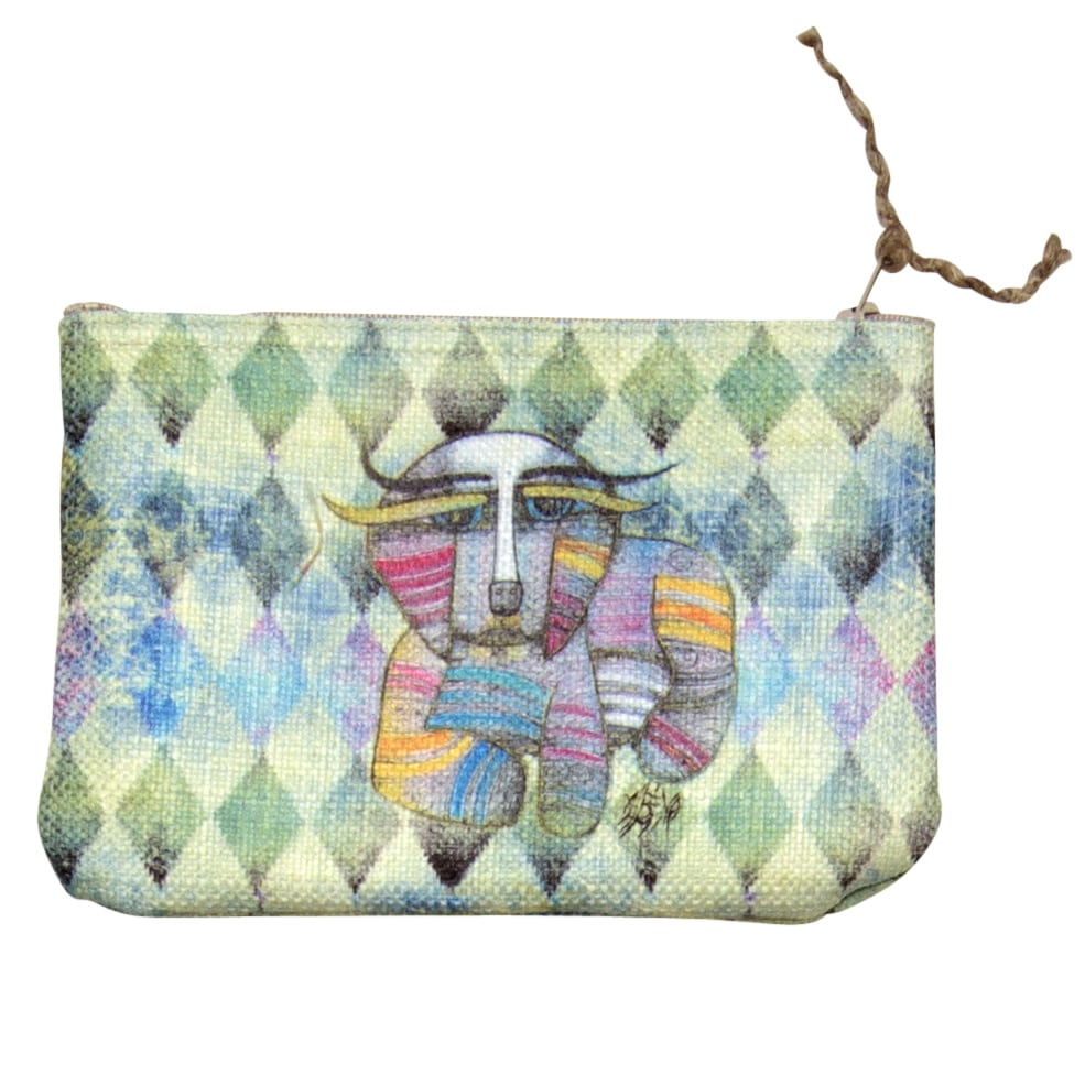 Totes for Dog Lovers - Purse / Cosmetic Bag with Dog Art by Albena