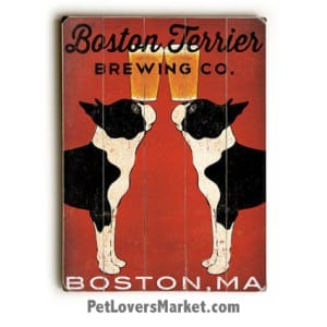 Vintage Ad with Vintage Dogs: Boston Terrier Brewing Company