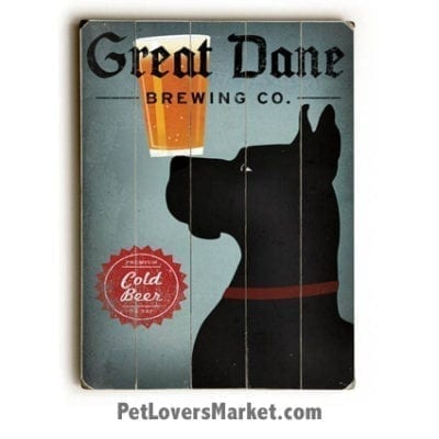 Great Dane Brewing Company - Vintage Ad / Wooden Sign