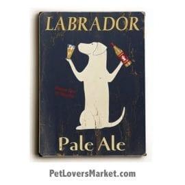Vintage Labrador: Labrador Pale Ale (Wooden Sign)