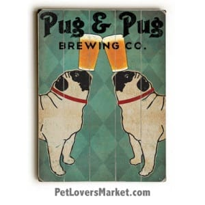 Pug and Pug Brewing - Vintage Ads with Vintage Dogs