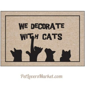 Cat Mat for Cat Lovers: We Decorate with Cats