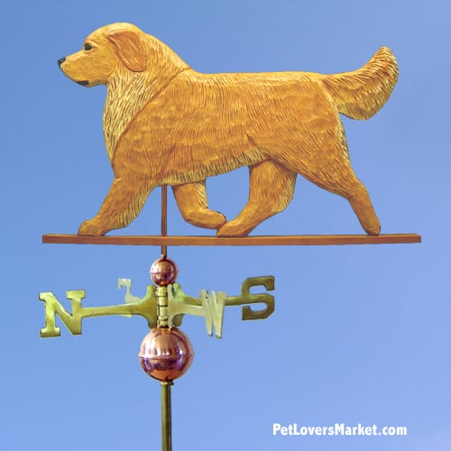 Weathervanes: Golden Retriever. Dog Weathervane and Dog Sign. All weathervanes made in USA.