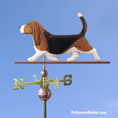 Basset Hound Dog Weathervane For Roof Or Garden Decor