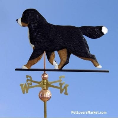 Weathervanes: Bernese Mountain Dog Weathervane for Roof and Garden Decor. Weathervane made in USA. Gifts for Dog Lovers.
