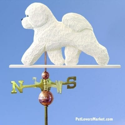 Weathervanes: Bichon Frise Dog Weathervane for Roof and Garden Decor. Weathervane made in USA. Gifts for Dog Lovers.