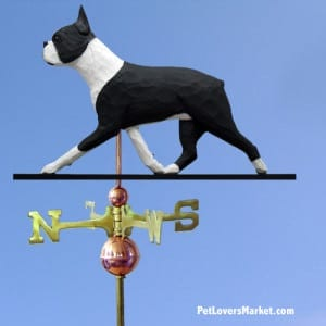 Weathervanes: Boston Terrier Dog Weathervane for Roof and Garden Decor. Weathervane made in USA. Gifts for Dog Lovers.