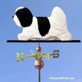 Weathervanes: Coton De Tulear Dog Weathervane for Roof and Garden Decor. Weathervane made in USA. Gifts for Dog Lovers. Michael Park Woodcarver.