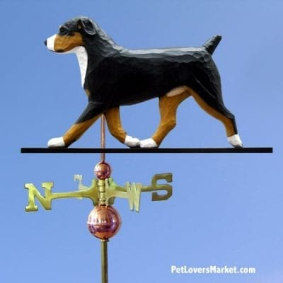 Weathervanes: Entlebucher Dog Weathervane for Roof and Garden Decor. Weathervane made in USA. Gifts for Dog Lovers. Michael Park Woodcarver
