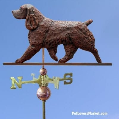 Weathervanes: Field Spaniel Dog Weathervane for Roof and Garden Decor. Weathervane made in USA. Gifts for Dog Lovers. Michael Park Woodcarver