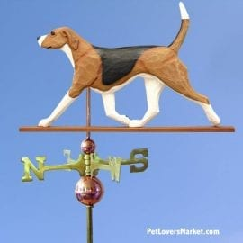 Weathervanes: Foxhound Dog Weathervane for Roof and Garden Decor. Weathervane made in USA. Gifts for Dog Lovers. Michael Park Woodcarver. English Foxhound.