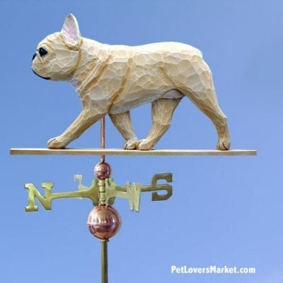 Weathervanes: French Bulldog Dog Weathervane for Roof and Garden Decor. Weathervane made in USA. Gifts for Dog Lovers. Michael Park Woodcarver.