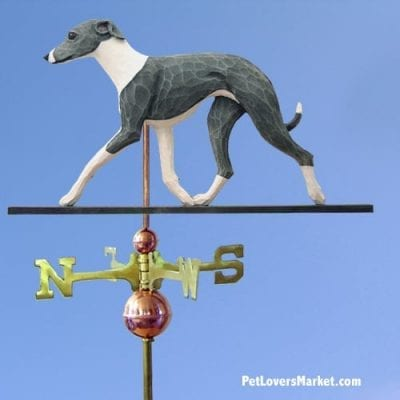 Weathervanes: Italian Greyhound Weathervane for Roof and Garden Decor. Weathervane made in USA. Gifts for Dog Lovers. Michael Park Woodcarver.