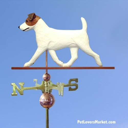 Weathervanes: Jack Russell Terrier Dog Weathervane for Roof and Garden Decor. Weathervane made in USA. Gifts for Dog Lovers. Michael Park Woodcarver.