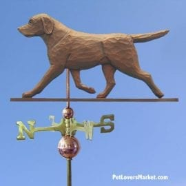 Weathervanes: Labrador Retriever Dog Weathervane for Roof and Garden Decor. Weathervane made in USA. Gifts for Dog Lovers. Michael Park Woodcarver.